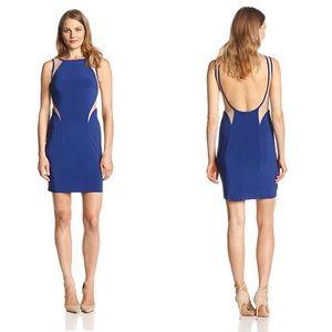 Hailey Adrianna Papell Sleeveless Illusion Dress